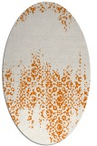 rug #1105586 | oval orange traditional rug