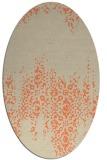 rug #1105590 | oval orange rug