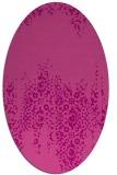 rug #1105598 | oval damask rug