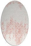 rug #1105610 | oval white faded rug