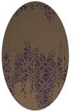 rug #1105622 | oval purple damask rug