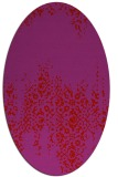 rug #1105642 | oval red traditional rug