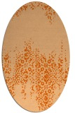 rug #1105650 | oval red-orange damask rug