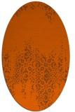 rug #1105654   oval red-orange faded rug