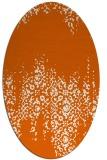 rug #1105658   oval red-orange faded rug