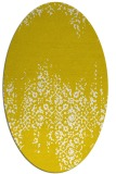 rug #1105670 | oval white traditional rug