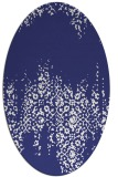 rug #1105674 | oval white faded rug