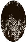 rug #1105678   oval brown damask rug