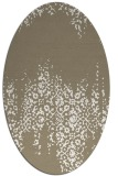 rug #1105690 | oval white faded rug