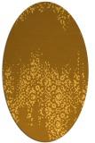 rug #1105706 | oval light-orange faded rug