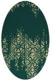 rug #1105710 | oval faded rug