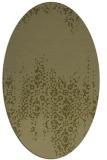 rug #1105726 | oval light-green faded rug