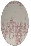 rug #1105734   oval pink damask rug