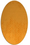 rug #1105738 | oval light-orange damask rug