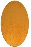 rug #1105738 | oval light-orange rug