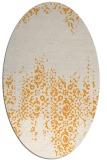 rug #1105742 | oval light-orange faded rug