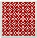 rug #110585 | square red circles rug