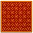 rug #110589 | square orange circles rug