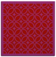 rug #110597 | square red circles rug
