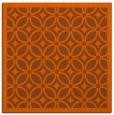 rug #110609 | square red-orange circles rug