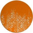 rug #1106114 | round orange damask rug