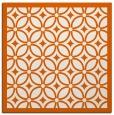 rug #110613 | square red-orange circles rug