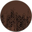 rug #1106130 | round brown rug