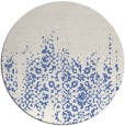 rug #1106162 | round blue traditional rug