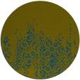 rug #1106194 | round green damask rug