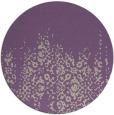 rug #1106298   round purple damask rug