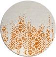 rug #1106322 | round orange damask rug