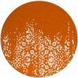 rug #1106394 | round red-orange damask rug
