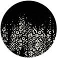 rug #1106402 | round black rug