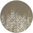 rug #1106426 | round white faded rug