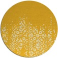 rug #1106430 | round yellow faded rug