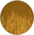 rug #1106442 | round yellow damask rug
