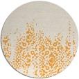 rug #1106478 | round light-orange faded rug