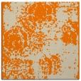 rug #1106850 | square orange damask rug