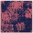 rug #1106946 | square blue-violet damask rug