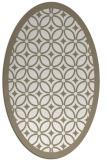 rug #110697 | oval white borders rug