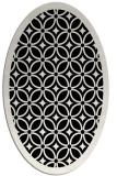 rug #110701 | oval black circles rug