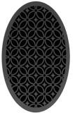 rug #110705 | oval black circles rug