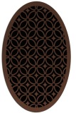 rug #110713 | oval black circles rug