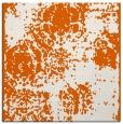 rug #1107130 | square red-orange damask rug