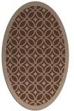 rug #110716 | oval borders rug