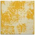 rug #1107166 | square yellow damask rug