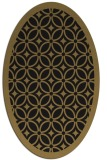 rug #110717 | oval mid-brown borders rug
