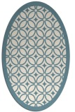 rug #110721 | oval white borders rug