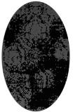 rug #1107226 | oval black traditional rug