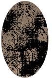 rug #1107230   oval beige damask rug